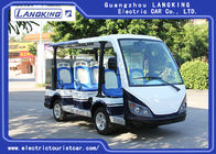 8 Seater Electric Car , 48V 5KW Dry Battery Tour Bus Y083A With Small Box For Hotel