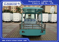 4KW Powerful Motor Left Hand Drive Electric Luggage Cart / Electric Freight Car With Roof