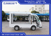 Two Seats Food Truck Electric Luggage Cart Enclosed Cargo Box 900kg Payload For Park