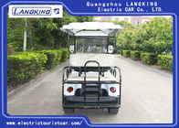 White Color 48V 3KW DC Motor Electric Golf Carts With 6 Seats Easy Operated