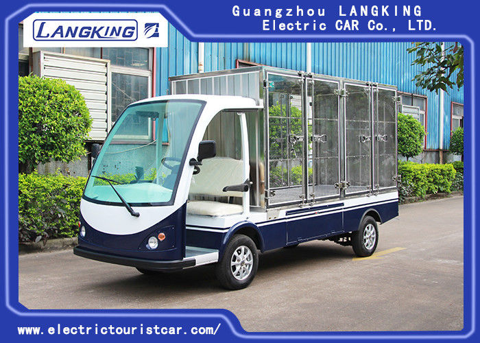 2 Seater Electric Cargo Van For Goods Loading And Unloading 900kg / Electric Freight Car